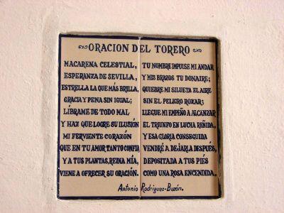 La prière des toréadors- Séville 2007
