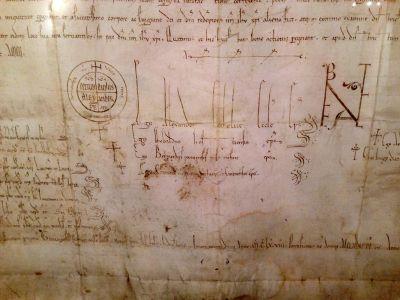 Fontenay 2014-Bulle du Pape Alexandre III- 12ème siècle