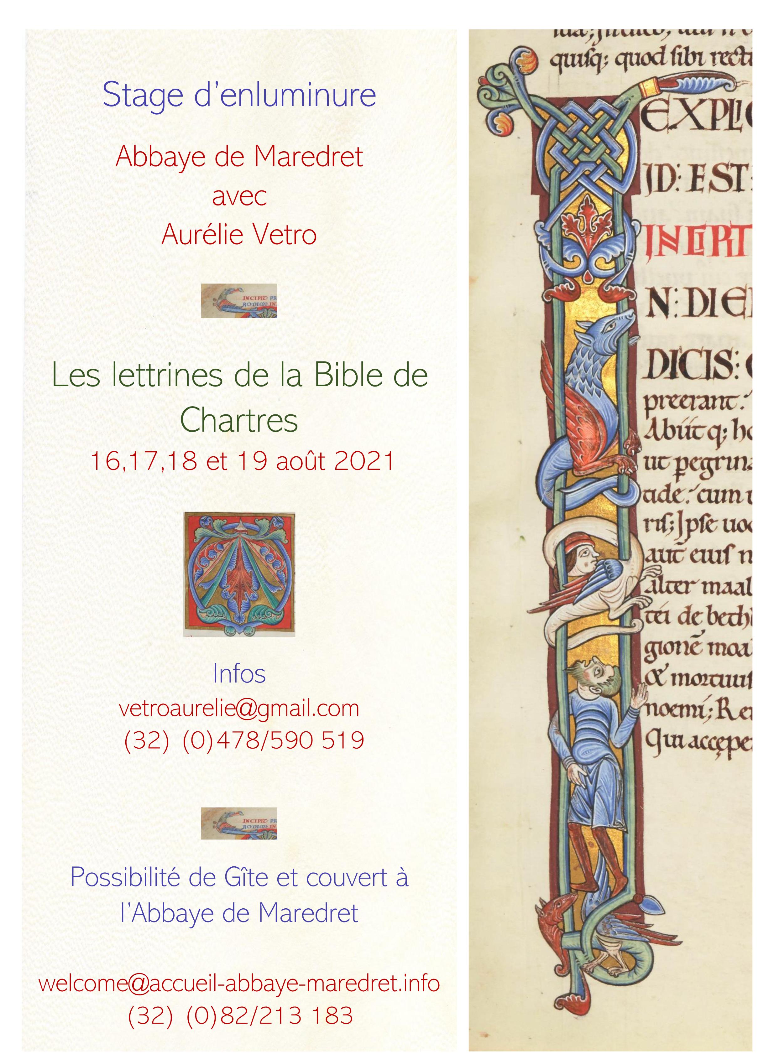 Les lettrines de la Bible de Chartres